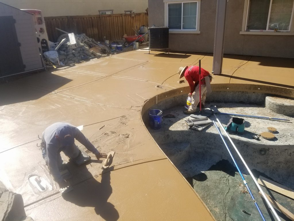 Concrete Pool Deck Installed in Oakland