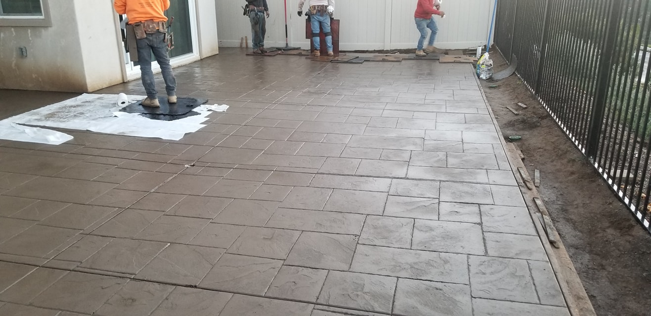 Stamped concrete installed in Oakland