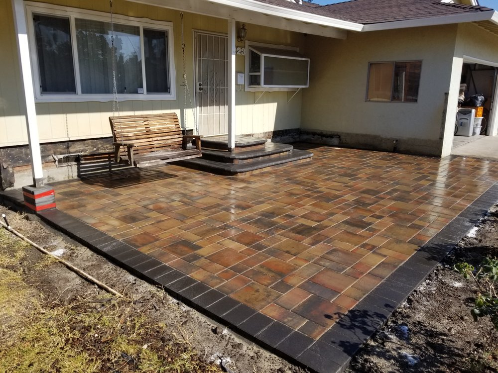 Stamped concrete that was installed in Oakland