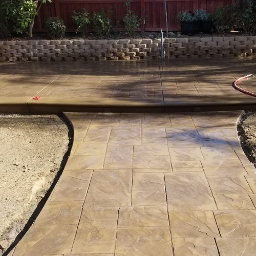 Stamped concrete installed in the Oakland area
